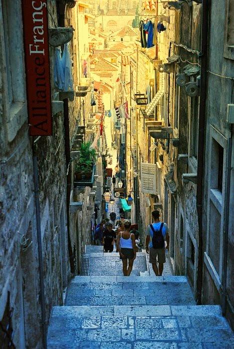 Steep Street,  Dubrovnik, Croatia