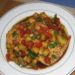 Herbs And Spices – Salmon With Pineapple Tomato Salsa